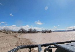 Playing around at the dry lake bed.