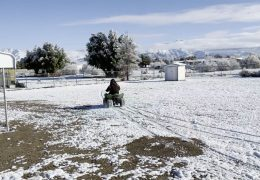 It snowed, Liberty had to test the quad in it